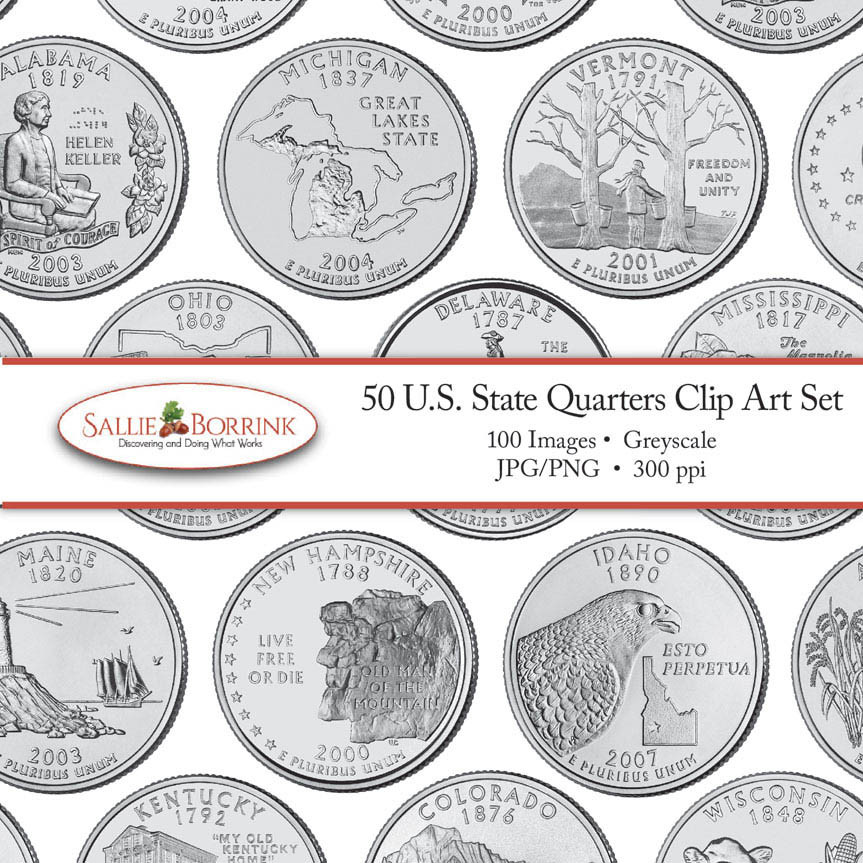 State Quarters Lovely U S 50 State Quarters Clip Art Sallieborrink Of Wonderful 47 Images State Quarters