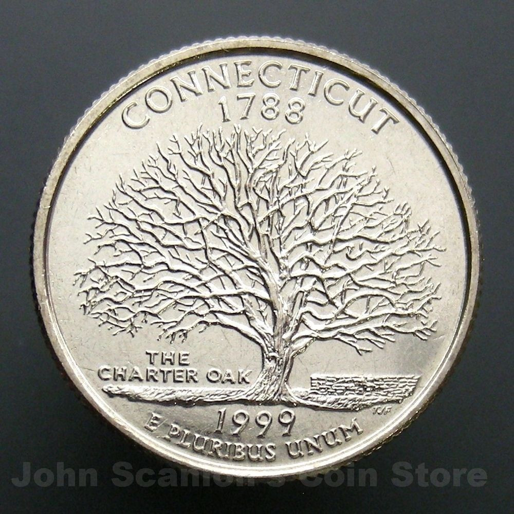State Quarters Luxury 1999 D Connecticut State Quarter 25c Us Mint Coin Choice Of Wonderful 47 Images State Quarters