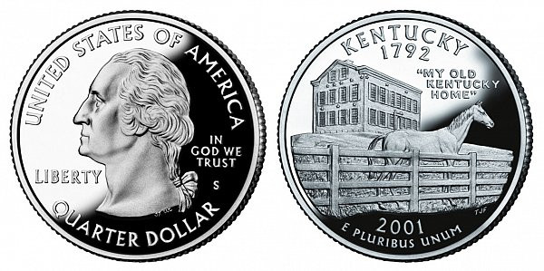 State Quarters Worth Money Fresh 2001 S Kentucky State Quarters Silver Proof Value and Prices Of Brilliant 50 Ideas State Quarters Worth Money