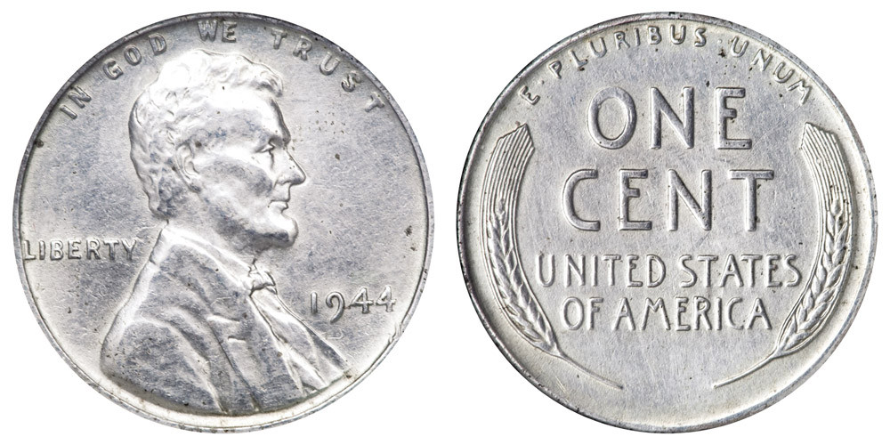 Steel Penny Value Elegant 1944 Lincoln Wheat Cent Steel Cent Bronze Posite Penny Of Charming 47 Models Steel Penny Value
