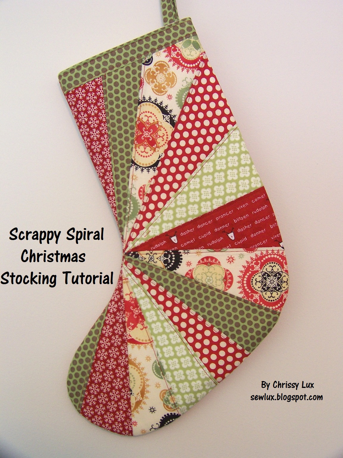 Stocking Pattern Best Of Sew Lux Fabric Blog Scrappy Spiral Stocking Tutorial Of New 44 Models Stocking Pattern
