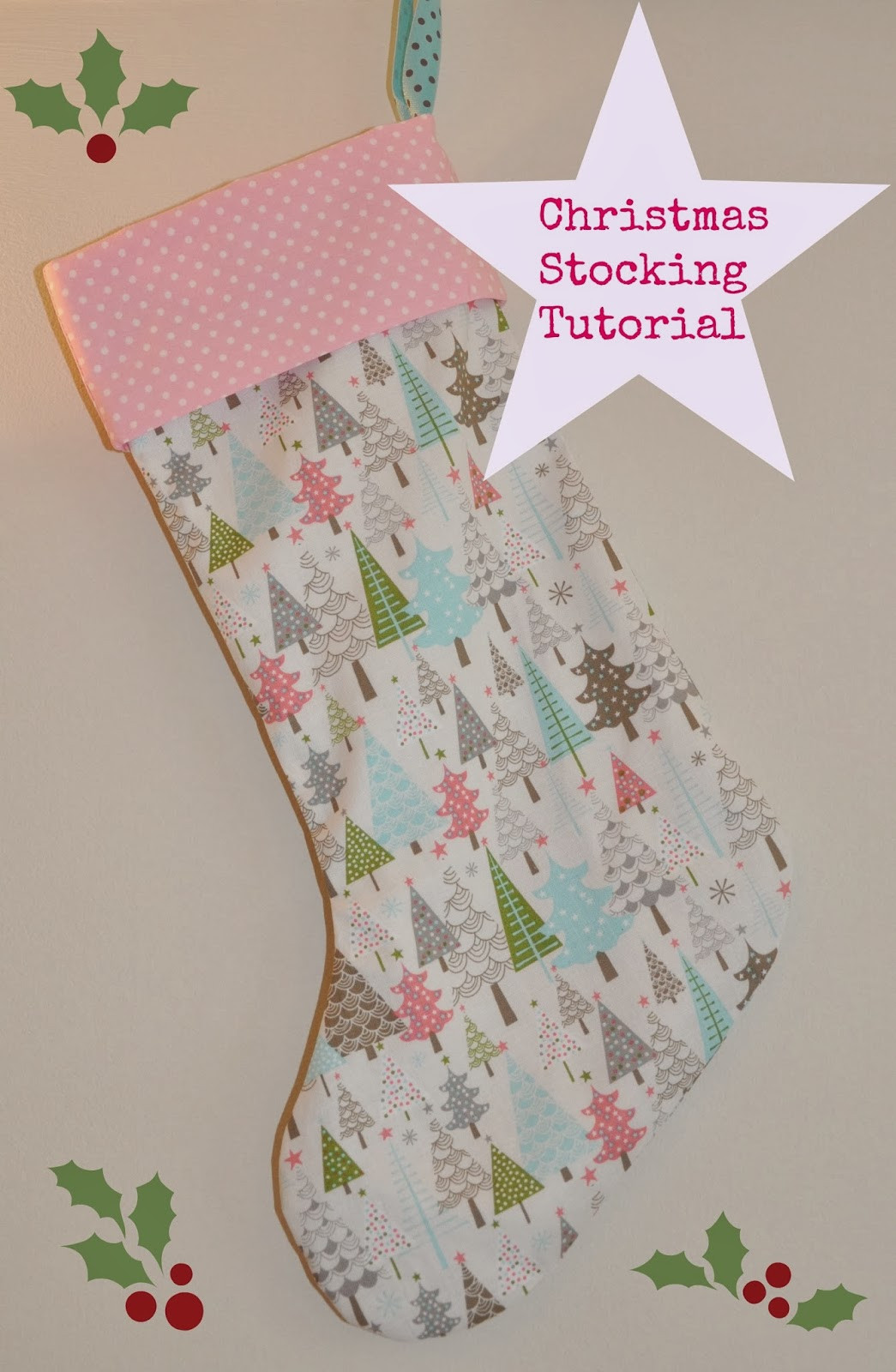 Stocking Pattern Lovely Sew Scrumptious Christmas Stocking Tutorial and Pattern Of New 44 Models Stocking Pattern