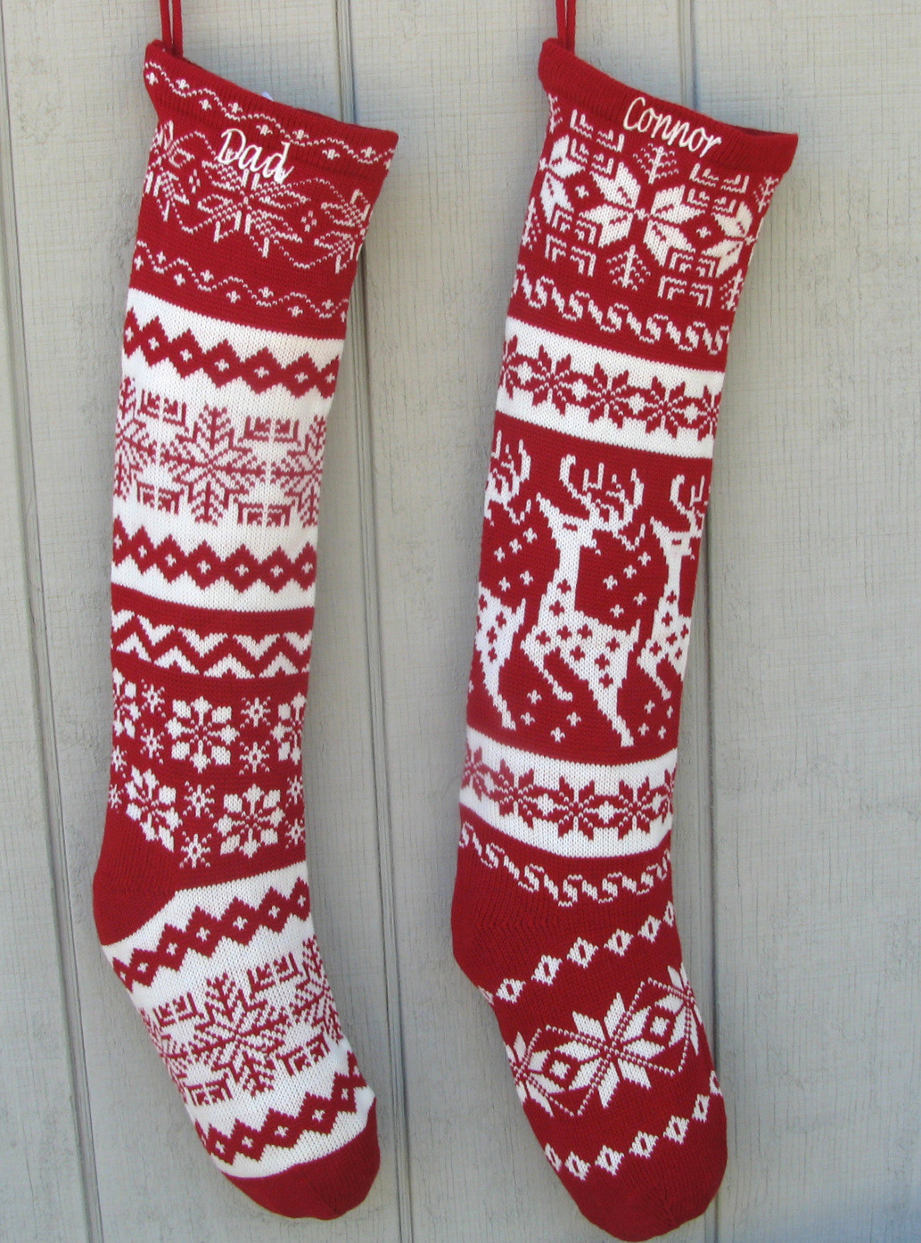 Stocking Pattern New Knitted Christmas Stockings Red White Of New 44 Models Stocking Pattern
