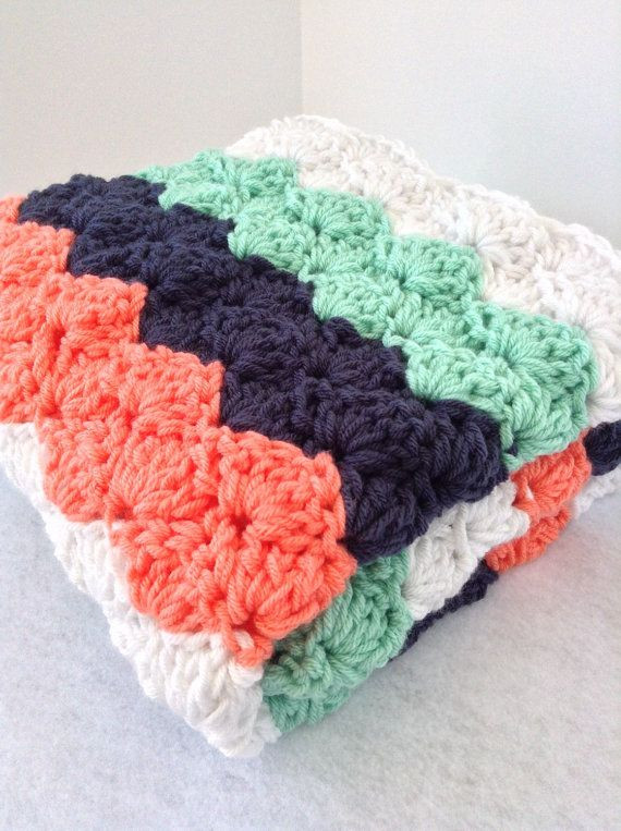 Striped Baby Blanket Awesome Chunky Striped Crochet Baby Blanket Lap Blanket by Of Lovely 48 Pics Striped Baby Blanket