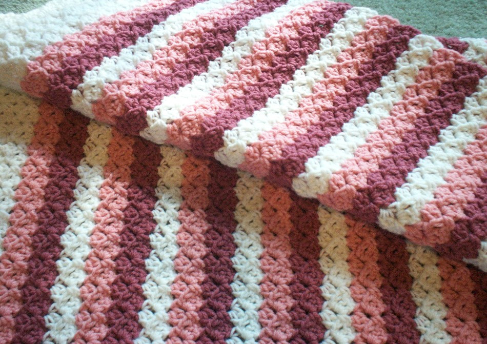 Striped Baby Blanket Beautiful Kari S Crafts Pink Stripes Baby Afghan Pattern Of Lovely 48 Pics Striped Baby Blanket