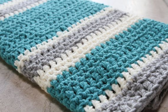 Striped Baby Blanket Luxury Chunky Striped Modern Crochet Baby Blanket by Of Lovely 48 Pics Striped Baby Blanket