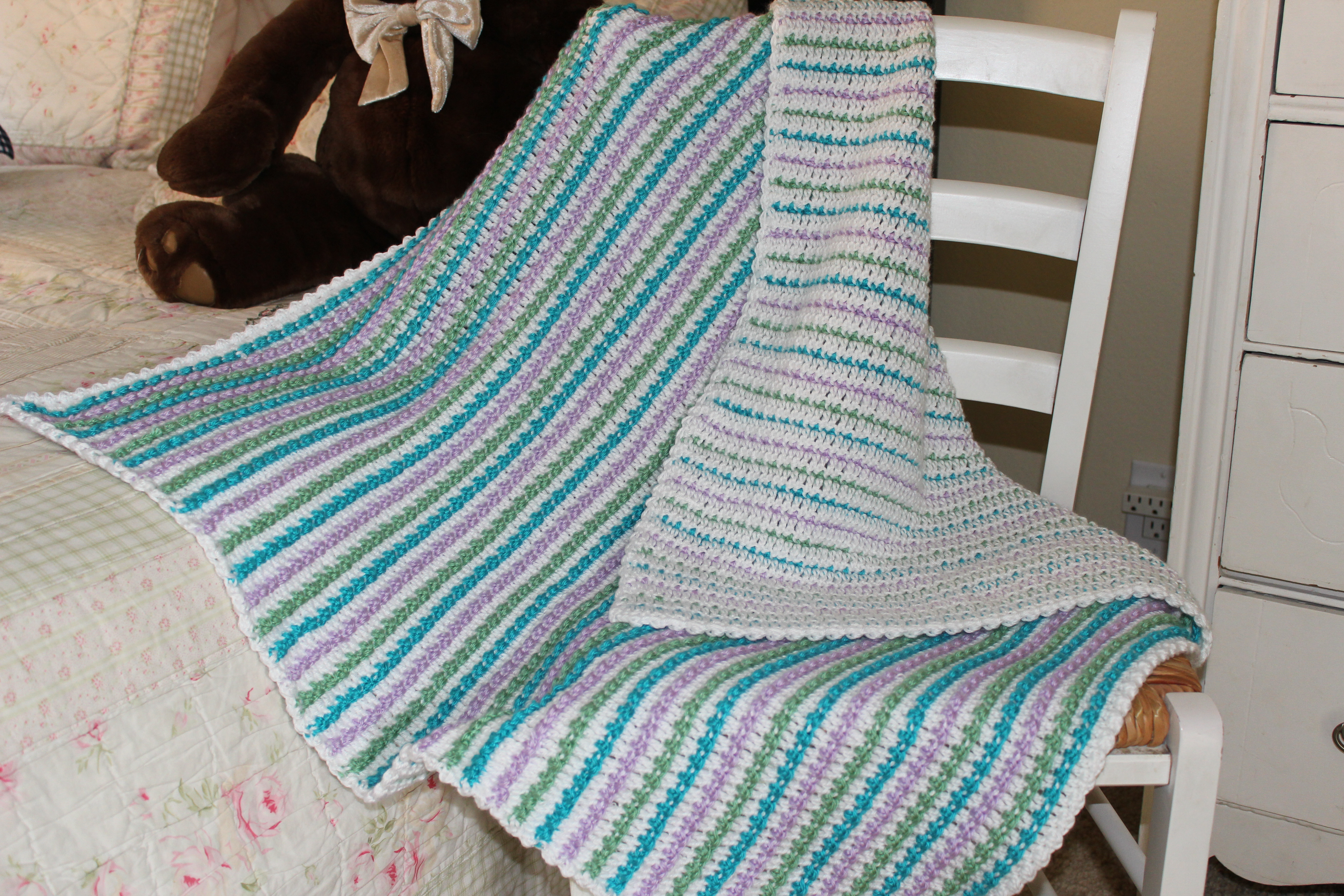 Striped Baby Blanket Unique Cotton Candy Stripes Crochet Baby Blanket – Karla S Making It Of Lovely 48 Pics Striped Baby Blanket