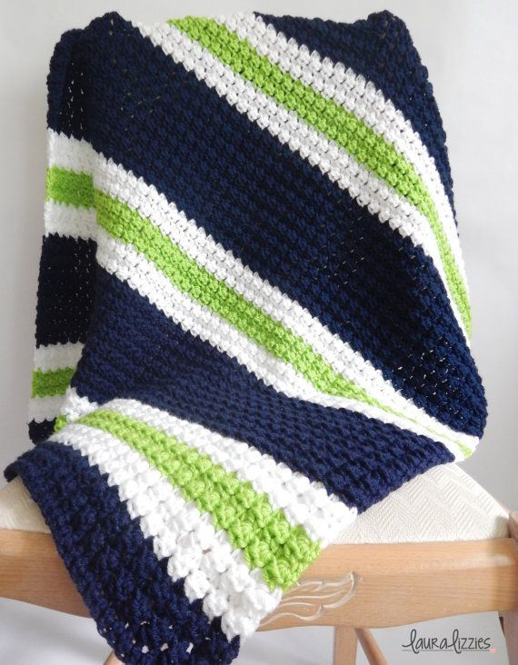 Striped Baby Blanket Unique Twin Crochet Striped Baby Blanket 1 Navy White Green Of Lovely 48 Pics Striped Baby Blanket