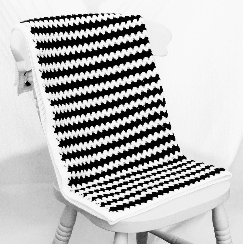 Striped Crochet Baby Blanket Awesome Crochet Baby Blanket Black and White Stripes Ready to Ship Of Amazing 50 Photos Striped Crochet Baby Blanket
