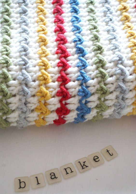 Striped Crochet Baby Blanket Awesome Winifred Baby Blanket Crochet Pattern Instant Download Pdf Of Amazing 50 Photos Striped Crochet Baby Blanket
