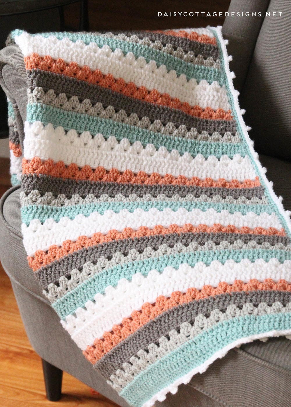 Striped Crochet Baby Blanket Inspirational Quick and Simple Striped Baby Blanket Pattern Of Amazing 50 Photos Striped Crochet Baby Blanket