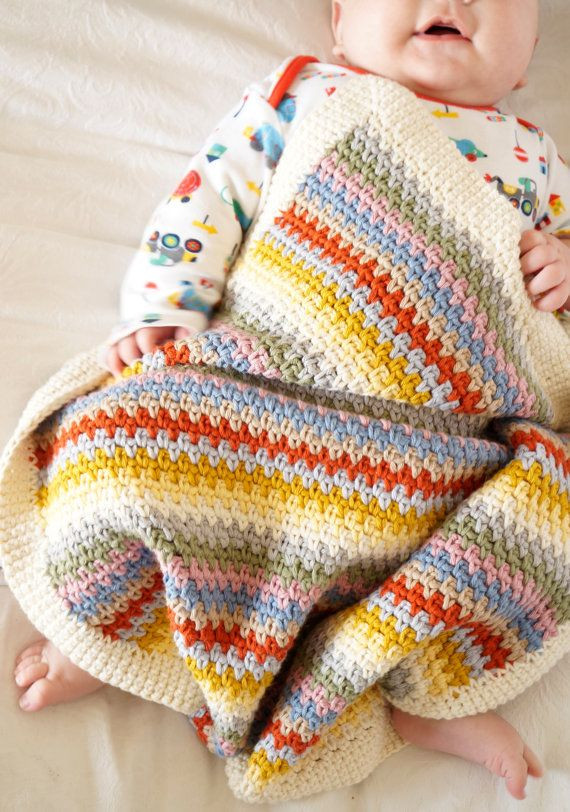 Striped Crochet Baby Blanket Inspirational the 25 Best Baby Blanket Size Ideas On Pinterest Of Amazing 50 Photos Striped Crochet Baby Blanket
