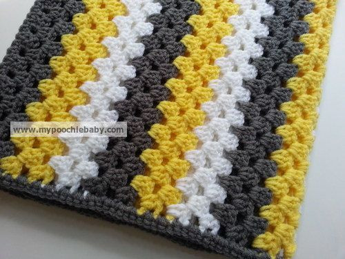 Striped Crochet Baby Blanket Unique Striped Granny Afghan Crochet Baby Blanket In Gray Of Amazing 50 Photos Striped Crochet Baby Blanket