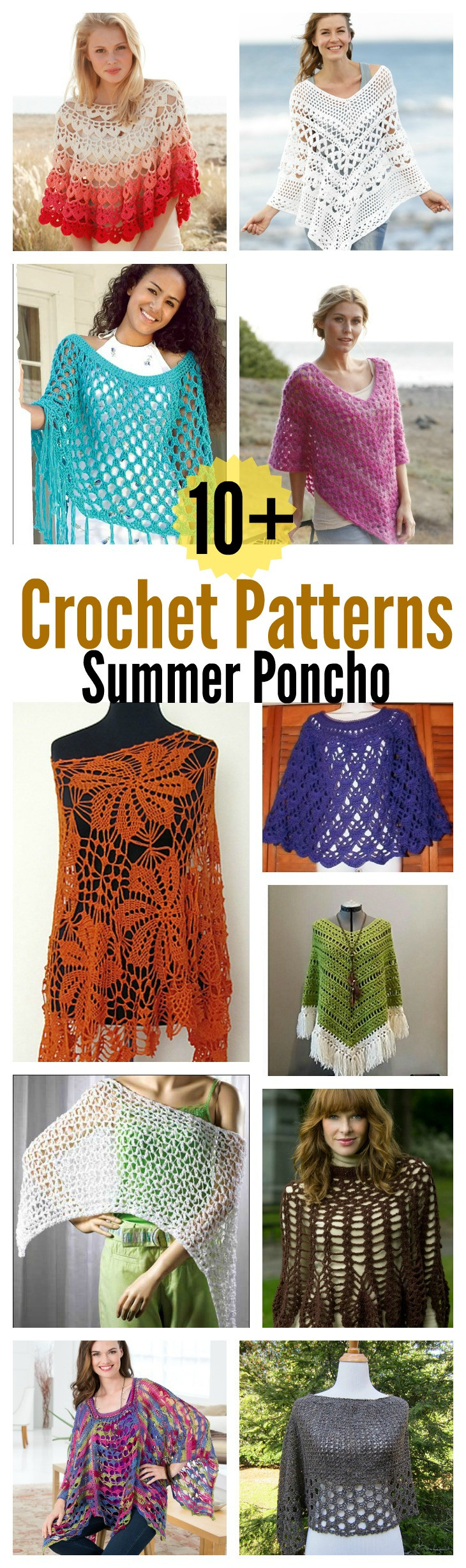 Summer Crochet New 10 Summer Poncho Free Crochet Patterns Page 2 Of 2 Of Awesome 43 Ideas Summer Crochet