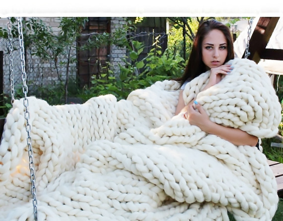 Super Bulky Yarn Blanket Best Of Aliexpress Buy Chunky Knit Blanket Super Chunky Yarn Of Brilliant 42 Models Super Bulky Yarn Blanket