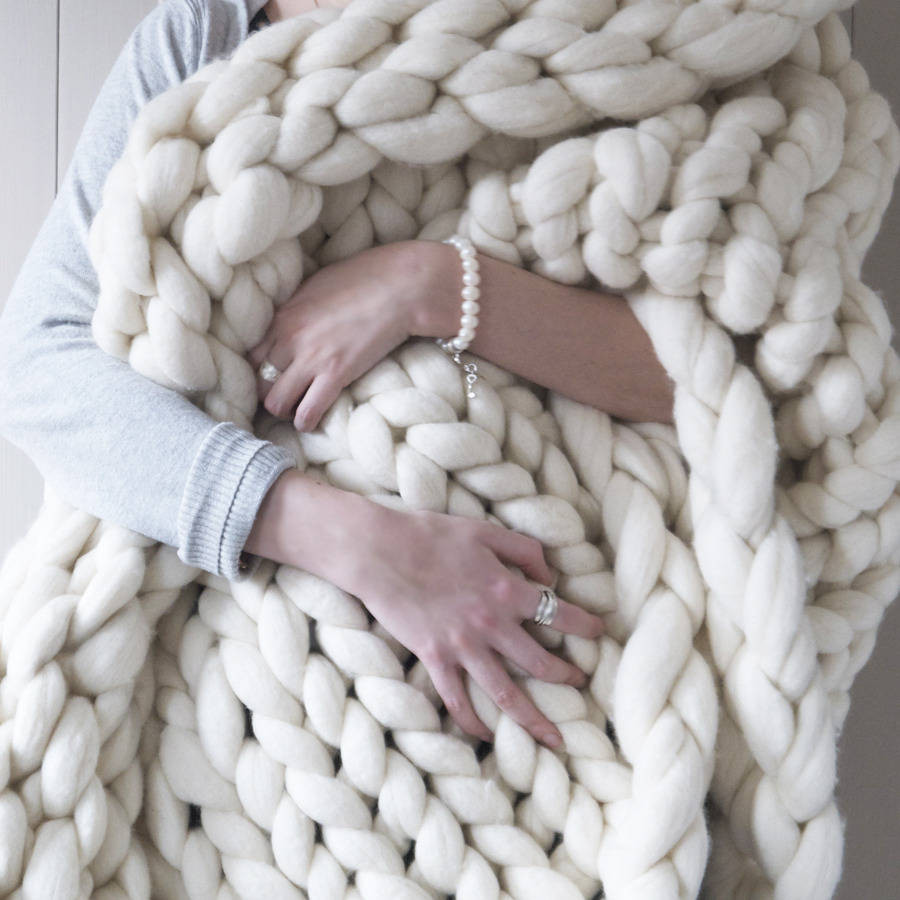 Super Chunky Knit Blanket Inspirational Woola Be Super Chunky Hand Knitted Throw by Lauren aston Of Wonderful 40 Photos Super Chunky Knit Blanket