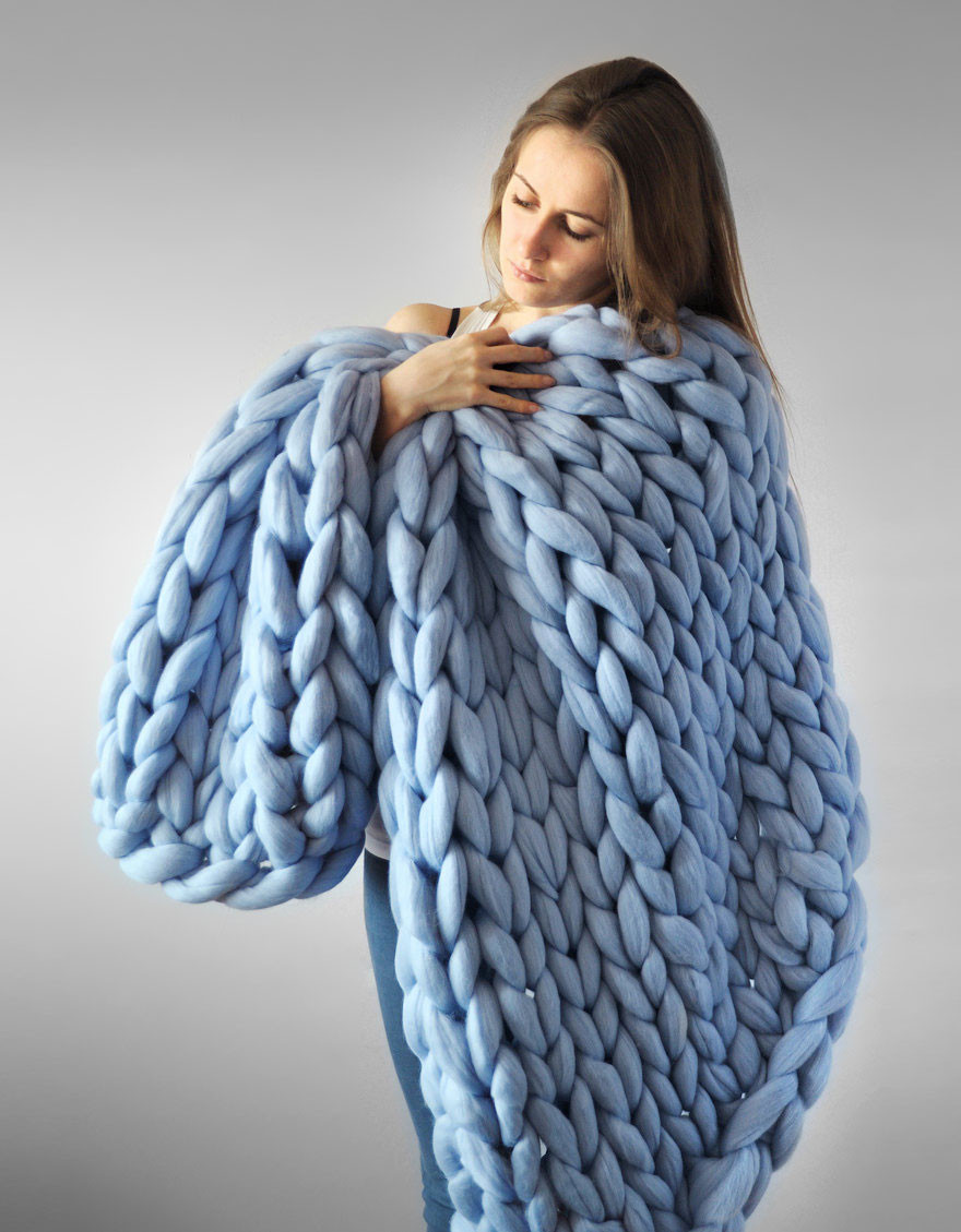 Super Chunky Yarn Blanket New Extremely Chunky Knits by Anna Mo Look Like they're Knit Of Superb 48 Models Super Chunky Yarn Blanket