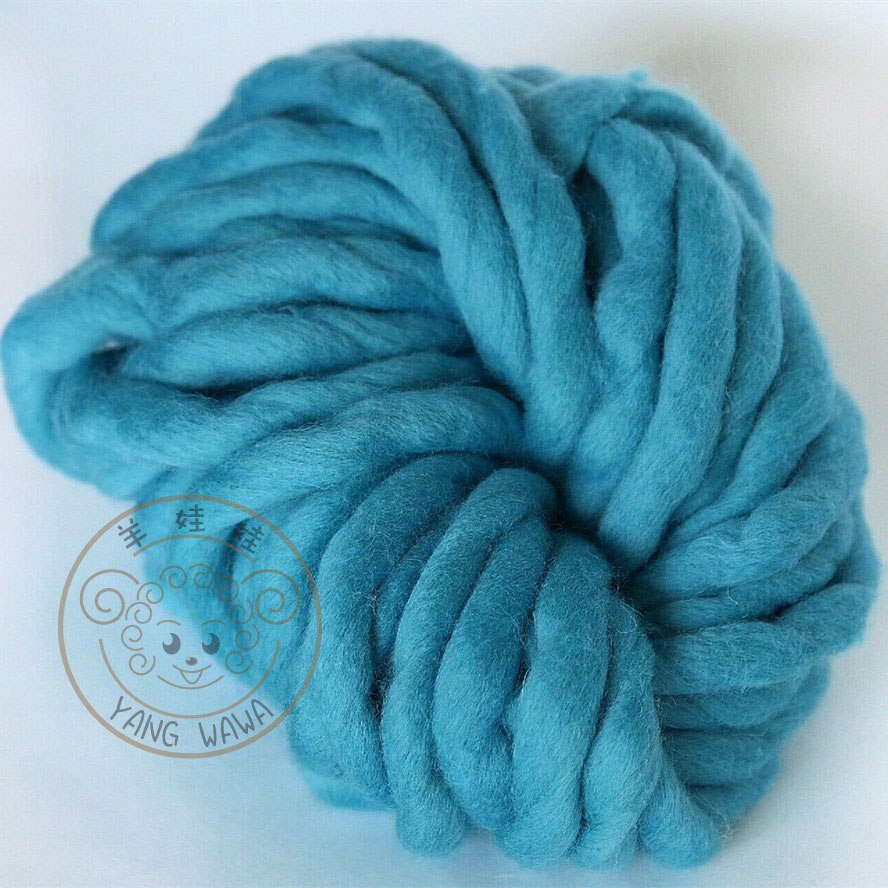 Super Chunky Yarn Fresh Lake Blue Color Merino Wool Roving Bulky Knit Yarn Of Great 49 Pictures Super Chunky Yarn