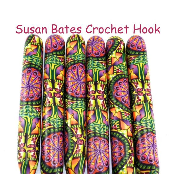 Susan Bates Crochet Hooks Unique Items Similar to Crochet Hook Polymer Clay Covered Susan Of Adorable 48 Pics Susan Bates Crochet Hooks
