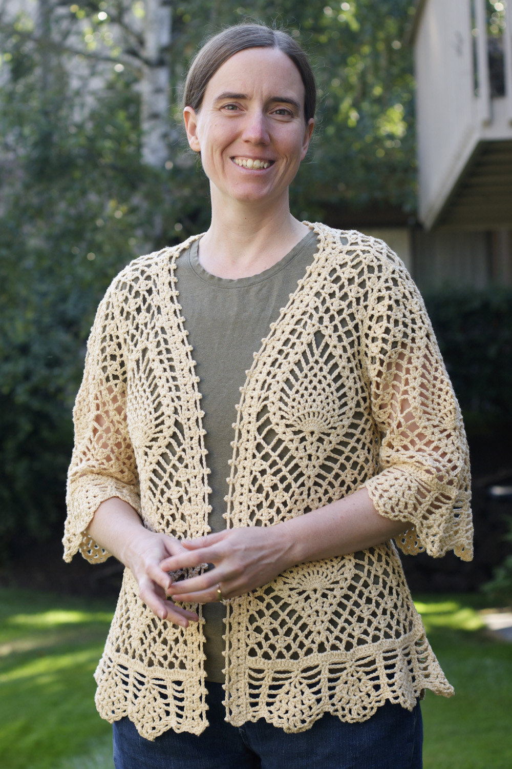 """Sweater Crochet Patterns Best Of """"we Do It the Hard Way"""" Cream Pineapple Crochet Sweater Of Amazing 49 Pictures Sweater Crochet Patterns"""