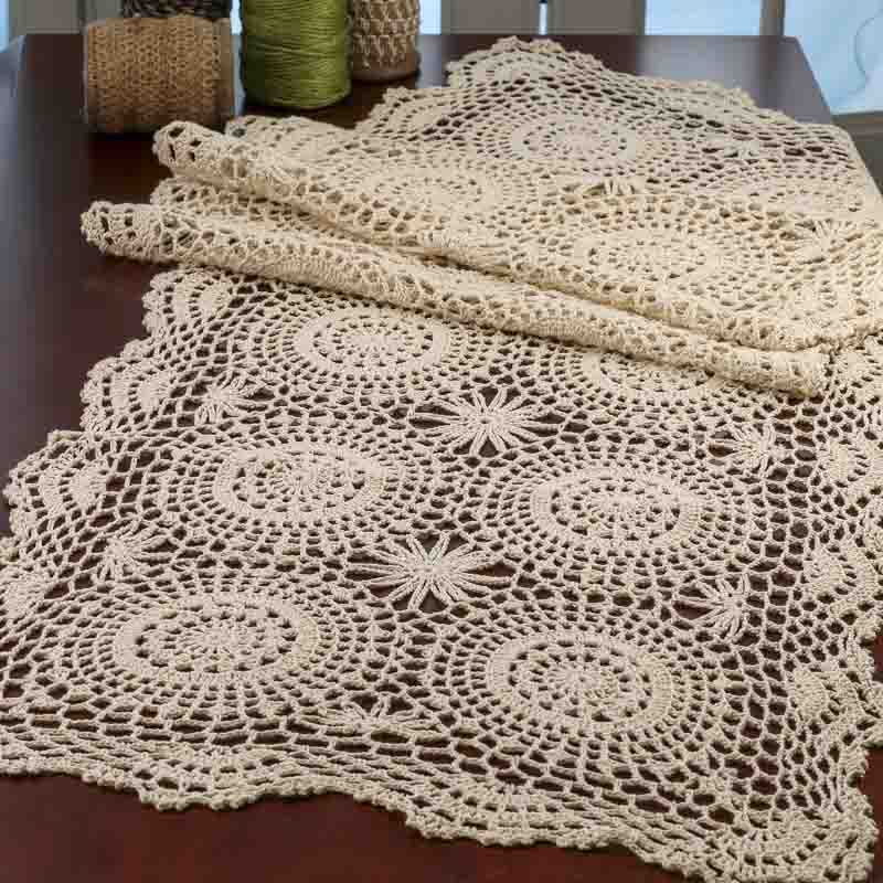 Table Doilies Awesome Ecru Crocheted Doily Table Runner Crochet and Lace Of Attractive 44 Pictures Table Doilies