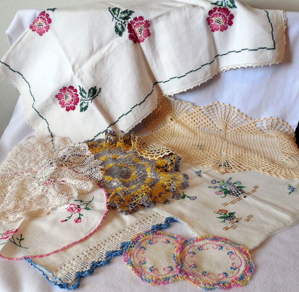 Table Doilies Best Of Vintage 9 Embroidered Crochet Doilies Table Cloth Runners Of Attractive 44 Pictures Table Doilies