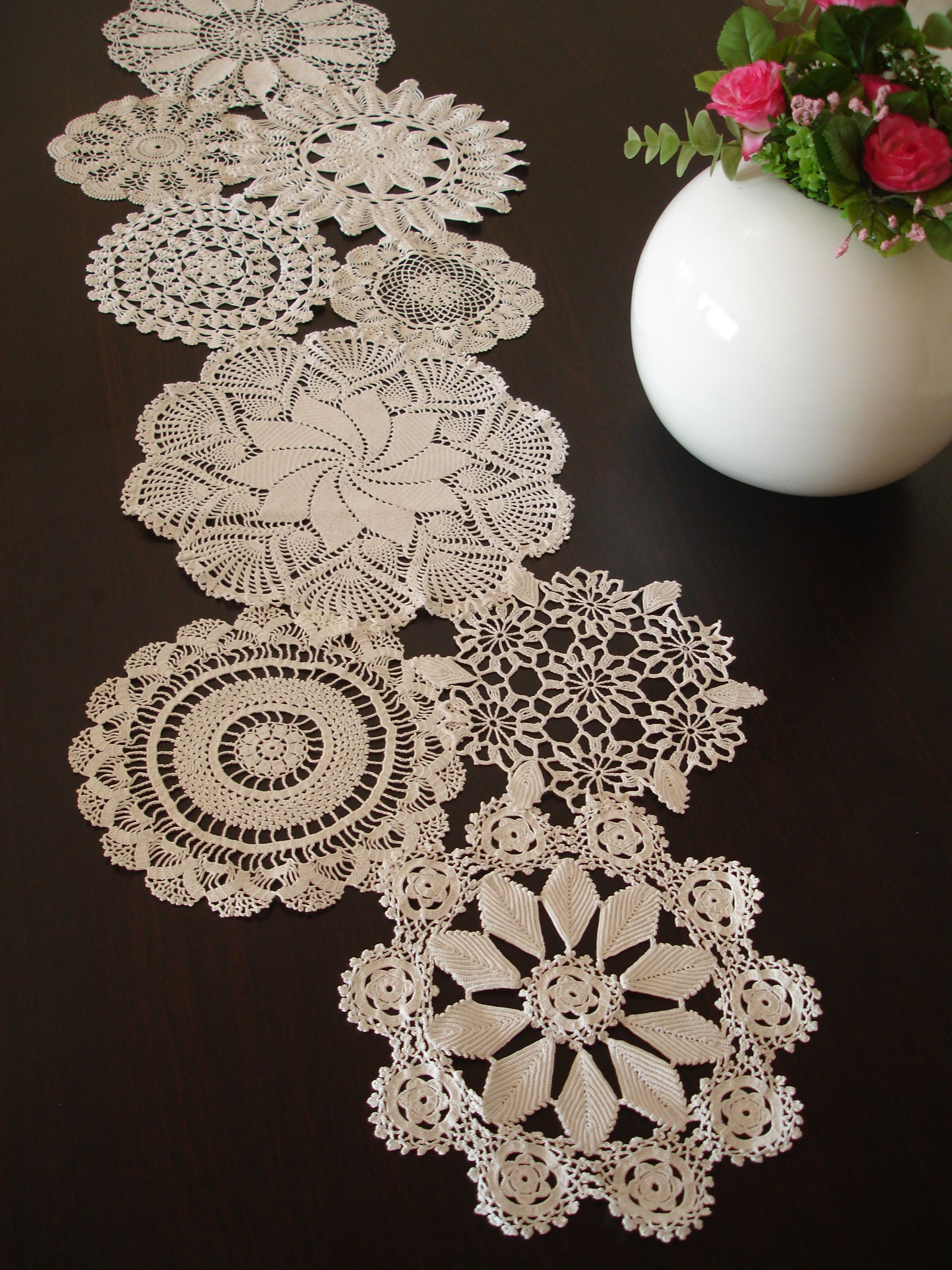 Table Doilies Elegant Wedding Table Decoration Vintage Doily Runner Of Attractive 44 Pictures Table Doilies