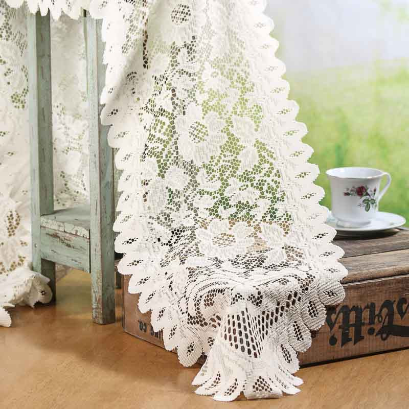 2026 2469 ivory lace doily table runner
