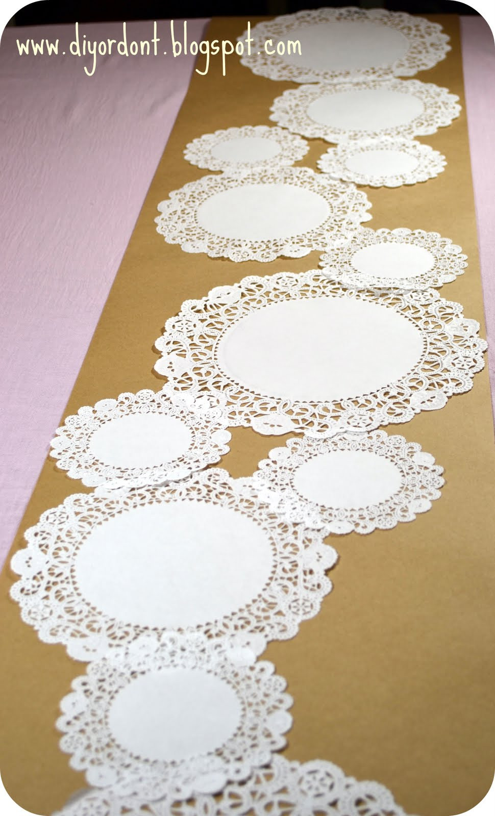 DIY or Don t Quickie Tutorial Doily Table Runner