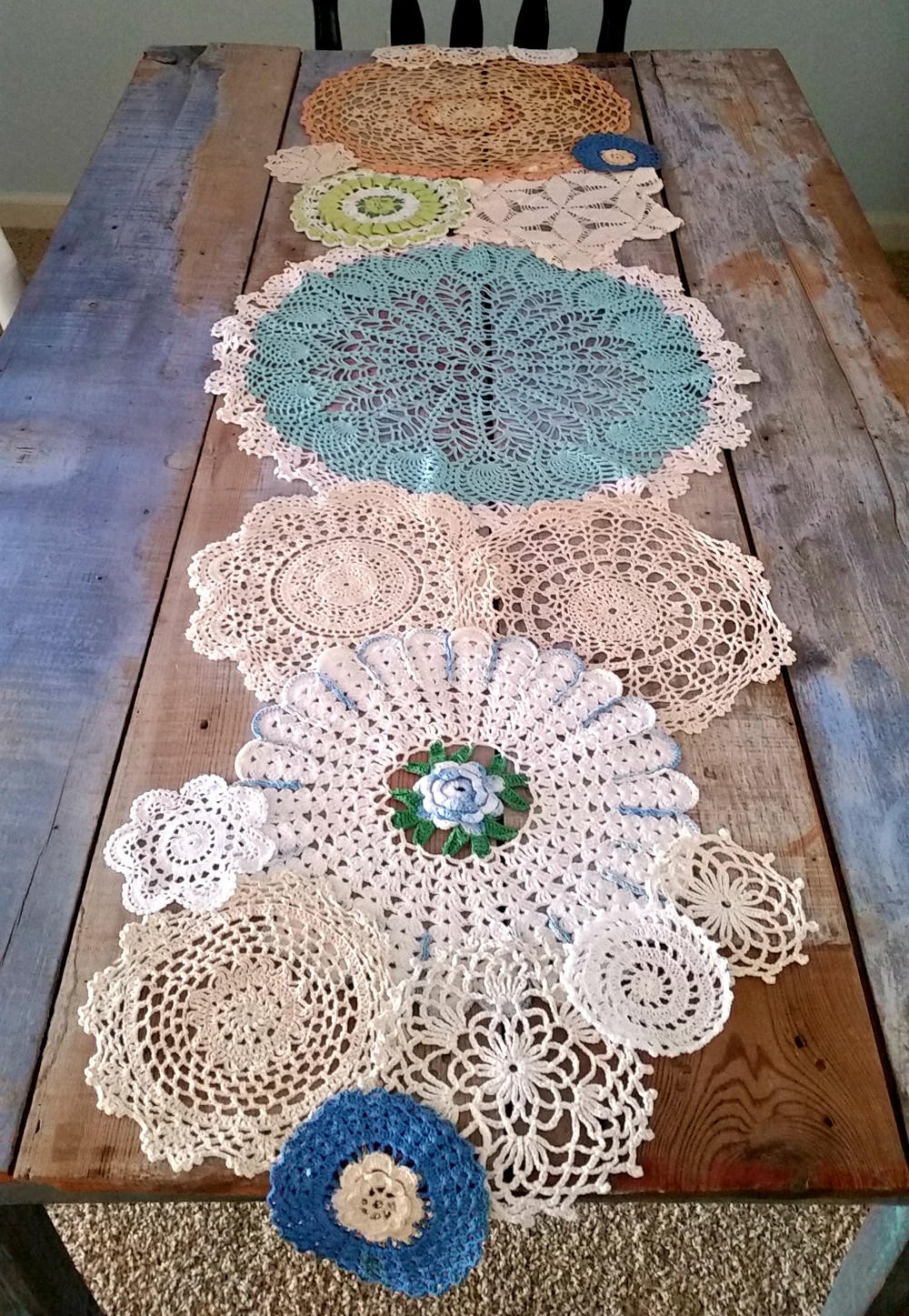 Table Doilies Unique Spring Has Sprung Doily Table Runner Of Attractive 44 Pictures Table Doilies