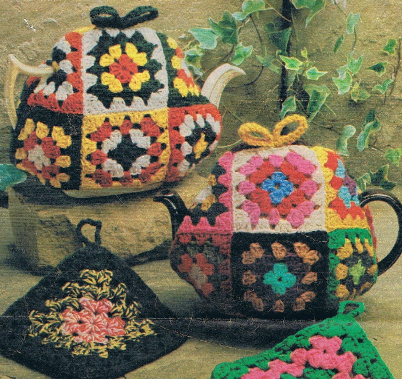 Tea Cosy Patterns Inspirational Granny Squares Tea Cosy and Pot Holder Crochet Pattern Vintage Of Innovative 44 Models Tea Cosy Patterns