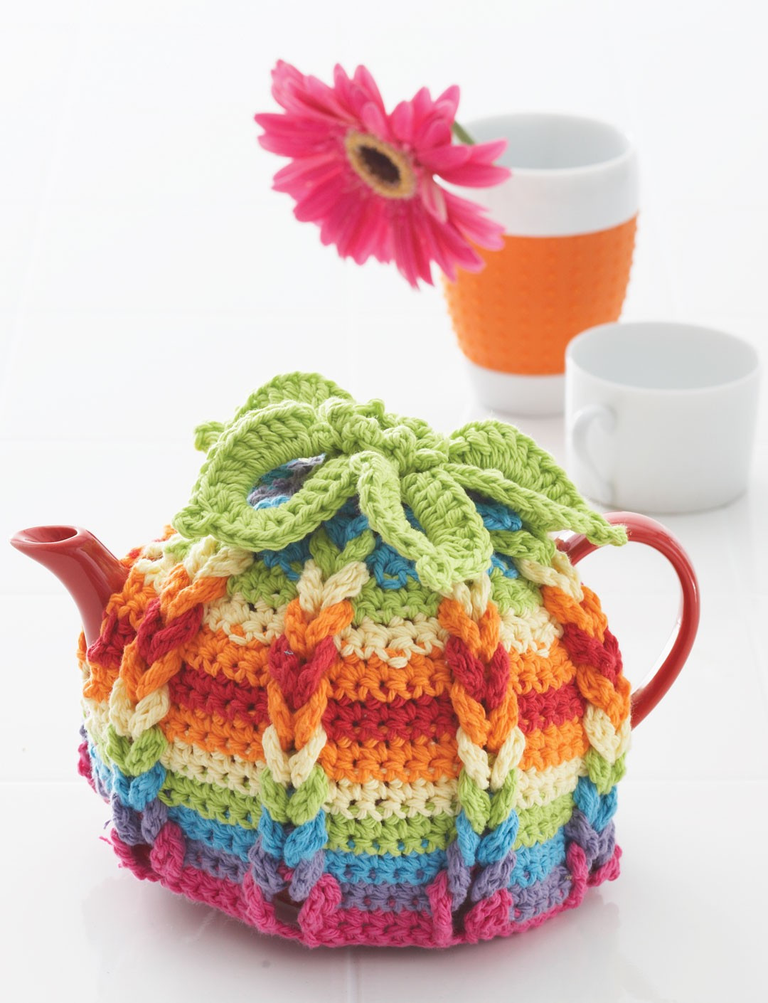 Lily Hot Hibiscus Tea Cozy Crochet Pattern