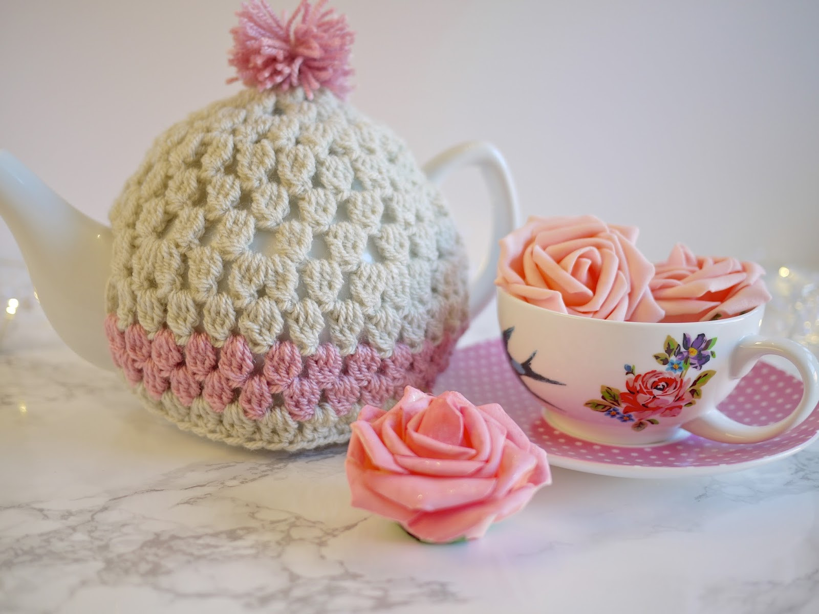 Crochet Tea Cosy Pattern Bella Coco by Sarah Jayne