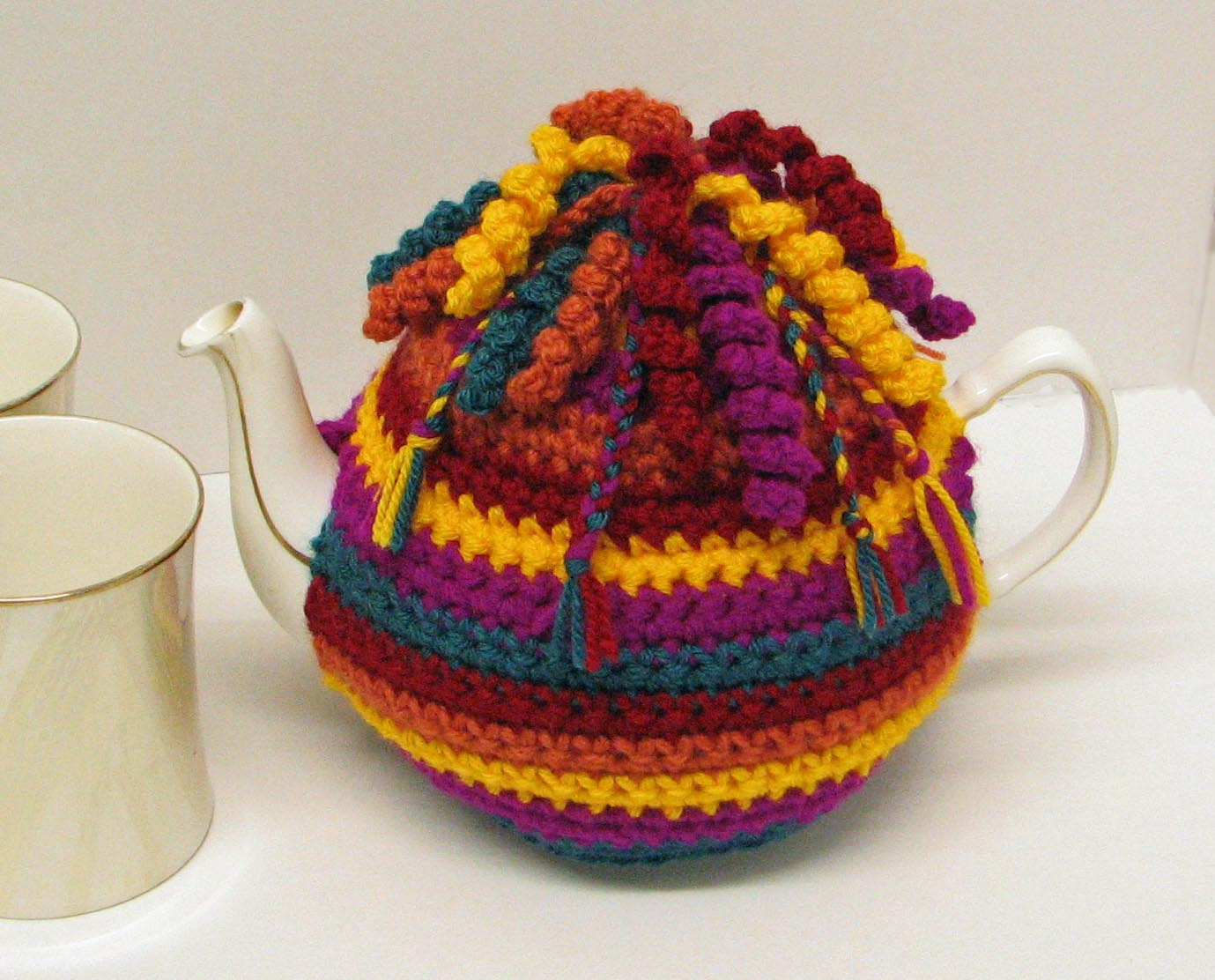 Tea Cosy Patterns New Crochet Pattern for Tea Cosy Cozy Trimmed with Spirals and Of Innovative 44 Models Tea Cosy Patterns