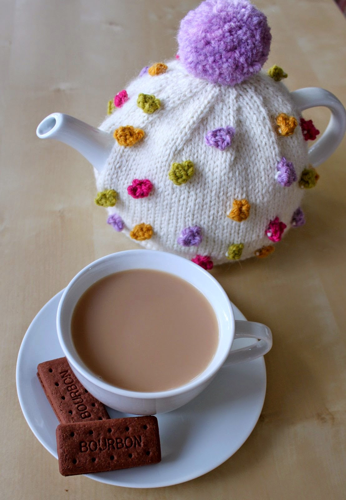 Hand Knitted Things Anyone for Tea