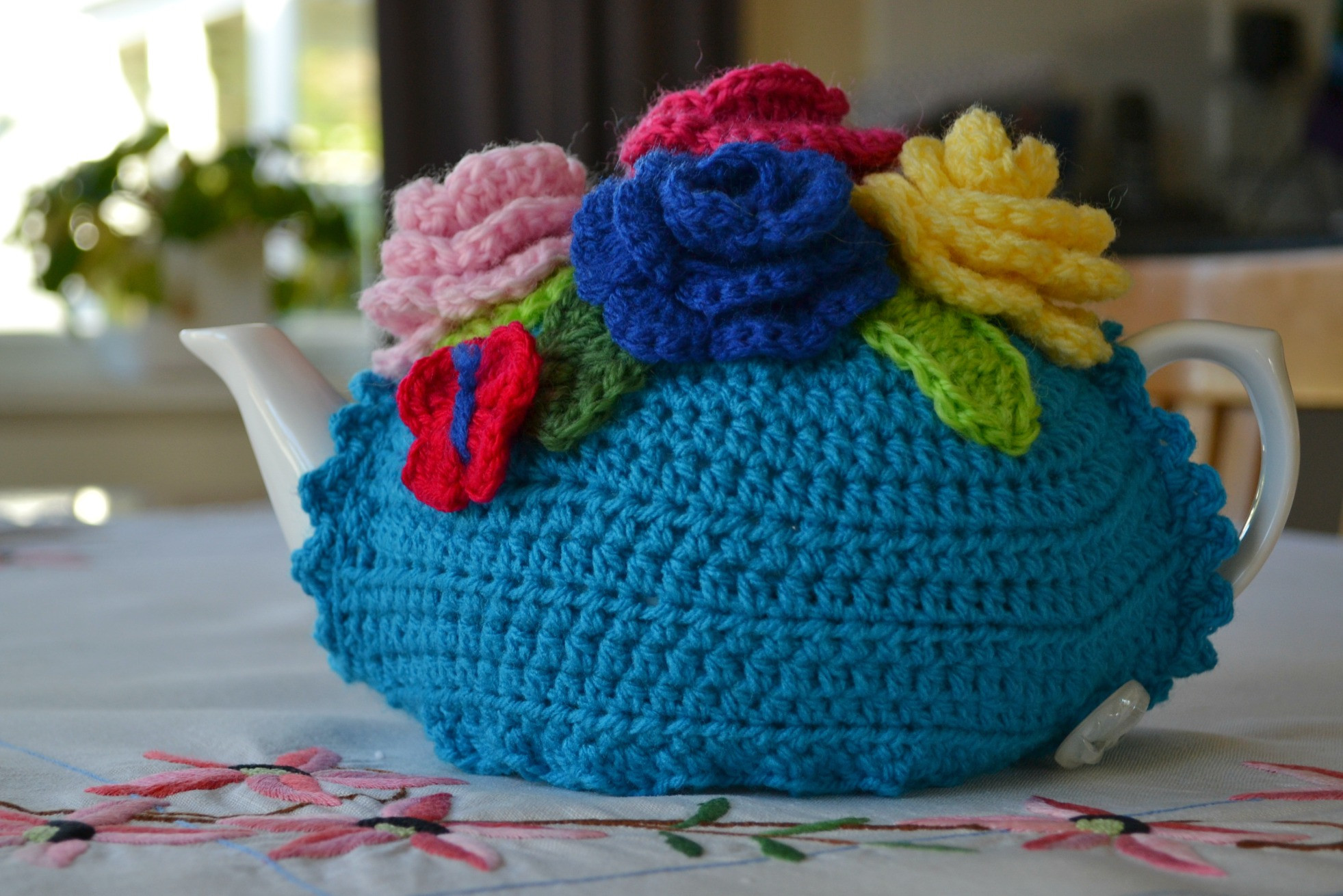 Crochet tea cosy pattern… finally – The Green Dragonfly