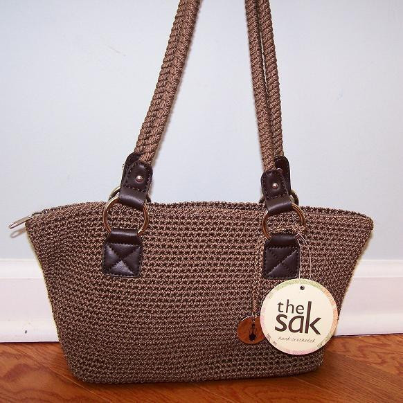 The Sak Crochet Beautiful the Sak Cambria Hand Crochet solid Taupe Shoulder Bag Of The Sak Crochet Awesome the Sak Black Crochet Cross Body Shoulder Bag Purse Handbag
