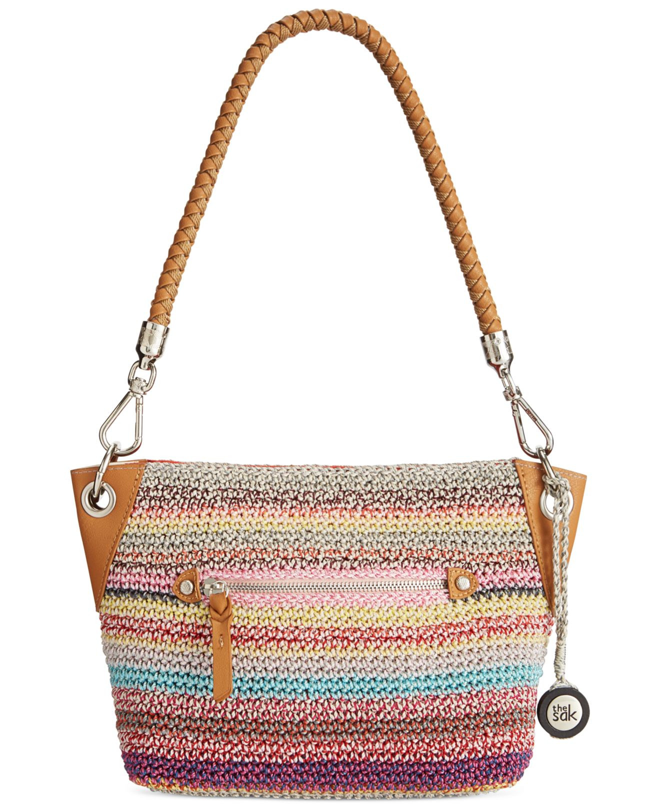 The Sak Crochet Elegant the Sak Portola Crochet Demi Bag In Multicolor Festi Of The Sak Crochet Awesome the Sak Black Crochet Cross Body Shoulder Bag Purse Handbag