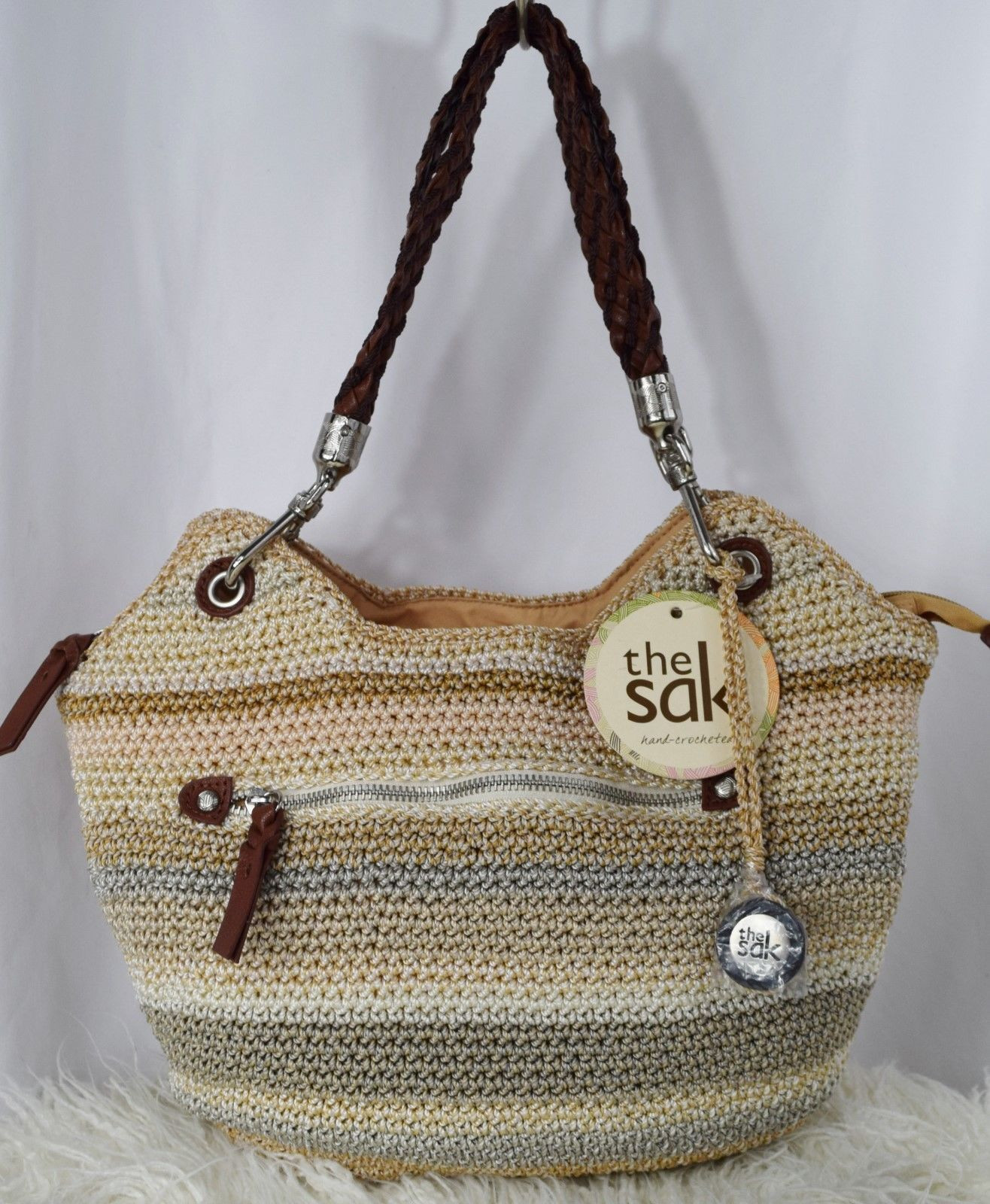 The Sak Crochet Inspirational Nwt the Sak Indio Crochet Satchel Handbag Sand Stripe Of The Sak Crochet Awesome the Sak Black Crochet Cross Body Shoulder Bag Purse Handbag