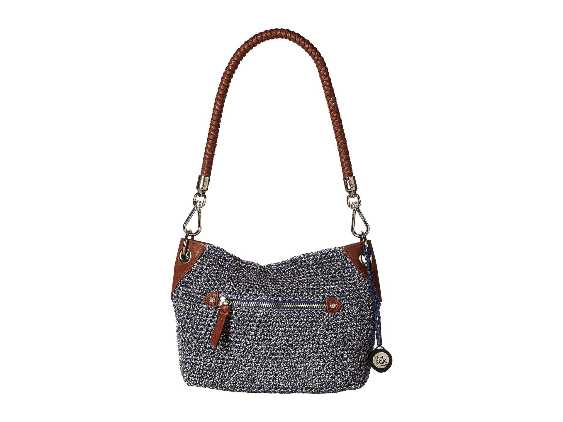 The Sak Crochet Luxury the Sak Indio Crochet Demi Hobo Denim Static Zappos Of The Sak Crochet Awesome the Sak Black Crochet Cross Body Shoulder Bag Purse Handbag