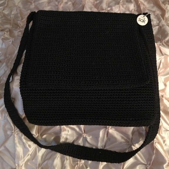 The Sak Crochet Luxury the Sak the Sak Black Crochet Knit Crossbody Bag From Of The Sak Crochet Awesome the Sak Black Crochet Cross Body Shoulder Bag Purse Handbag
