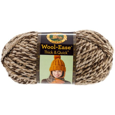 Wool Ease Thick & Quick Yarn Toffee Walmart