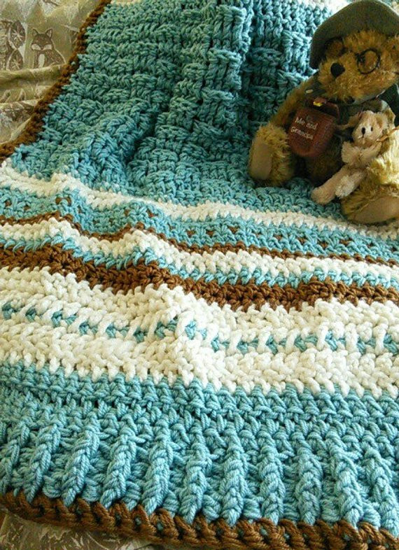 Thick Crochet Blanket Inspirational Crochet Basket Weave Baby Afghan Lap Blanket Thick by Of Delightful 42 Pics Thick Crochet Blanket