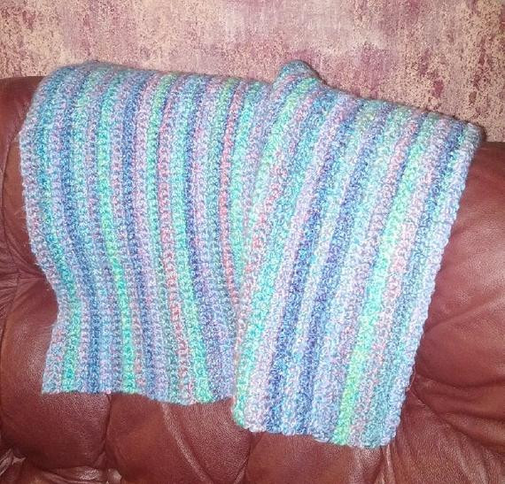Thick Crochet Blanket Inspirational Thick Crochet Baby Blanket Pad In Blue Purple and Green Of Delightful 42 Pics Thick Crochet Blanket