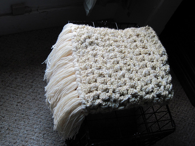 Thick Crochet Blanket Lovely Baby Blanket Chunky Cream Ecru with Thick Fringe Perfect Of Delightful 42 Pics Thick Crochet Blanket