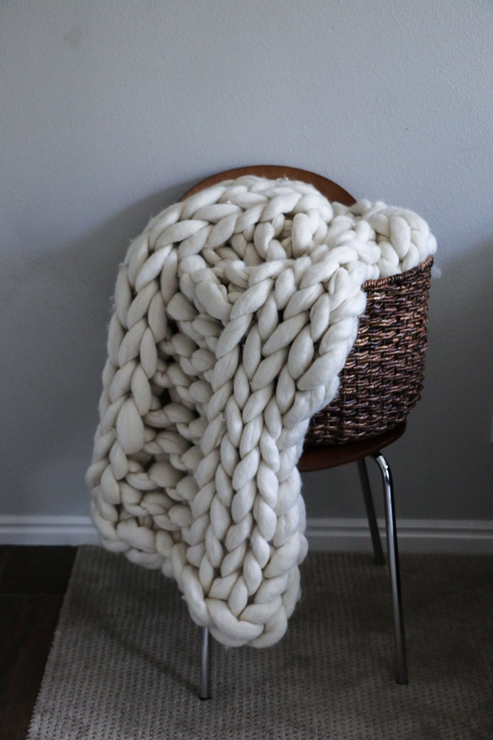 Thick Knit Blanket Awesome Merino Wool Thick Knit Blanket by Sarahlouco Of Wonderful 47 Models Thick Knit Blanket