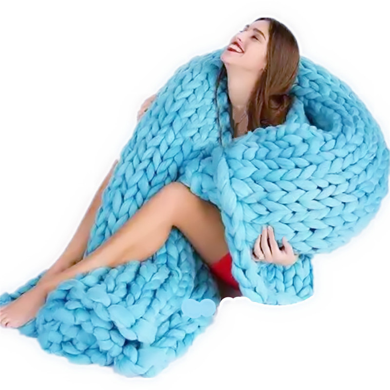Thick Knit Blanket Inspirational Aliexpress Buy Warm Chunky Knit Blanket Polyester Of Wonderful 47 Models Thick Knit Blanket