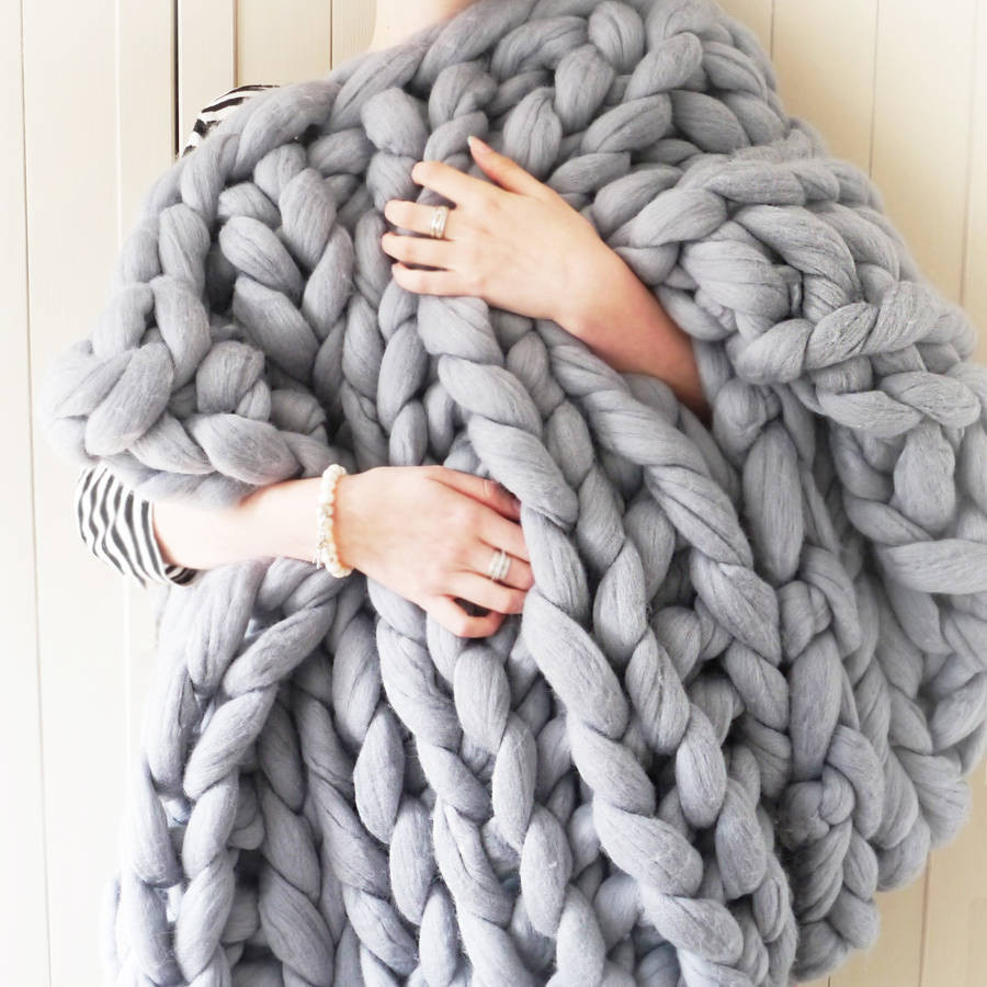 Thick Knit Blanket New Yarns Be Chunky Hand Knitted Throw by Lauren aston Of Wonderful 47 Models Thick Knit Blanket