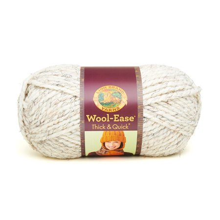 Lion Brand Yarn Wool Ease Thick & Quick Wheat 640 402