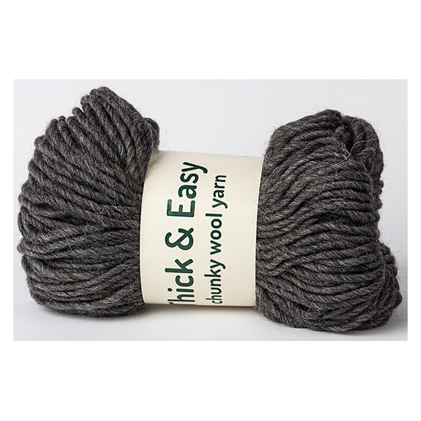 Anthracite Thick & Easy Wool Yarn